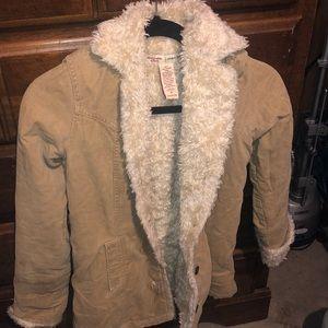 Vintage Inspired Fur Lined Coat